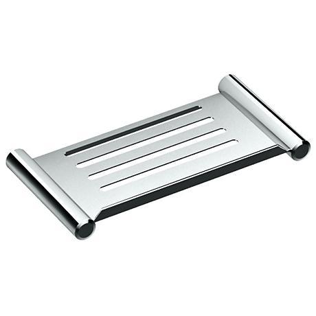 """Gatco Elegant Chrome 10"""" Wide Shower Shelf"""