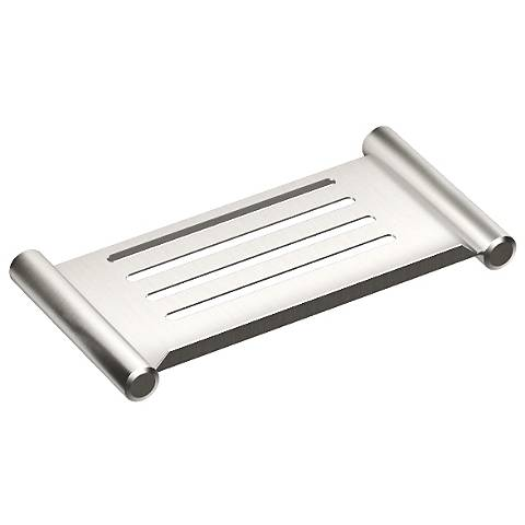 "Gatco Elegant Brushed 10"" Wide Shower Shelf"