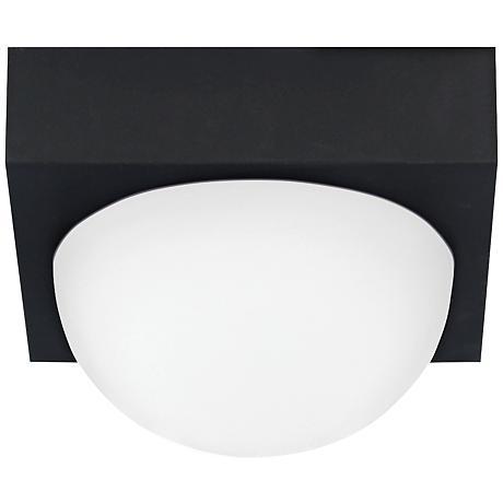 "LBL Sphere 4 3/4""W Rubberized Black Frost LED Ceiling Light"