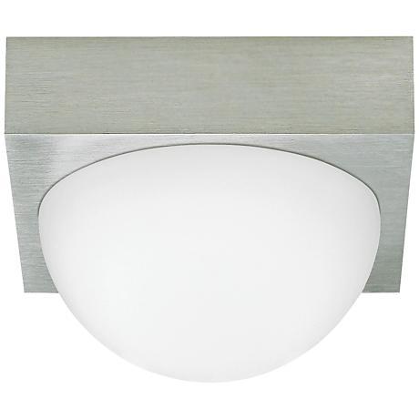 "LBL Sphere 4 3/4"" Wide Satin Nickel Frost LED Ceiling Light"