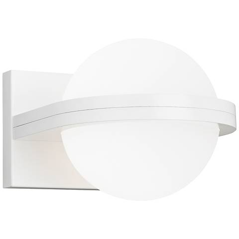 "LBL Capture 5"" High White and Opal LED Wall Sconce"