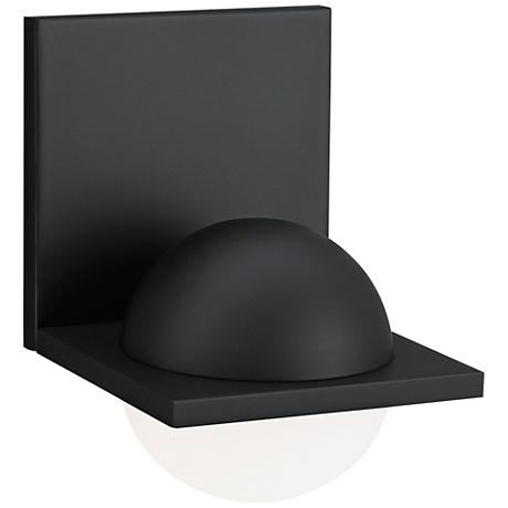"LBL Sphere 6 3/4""H Rubberized Black Frost LED Wall Sconce"
