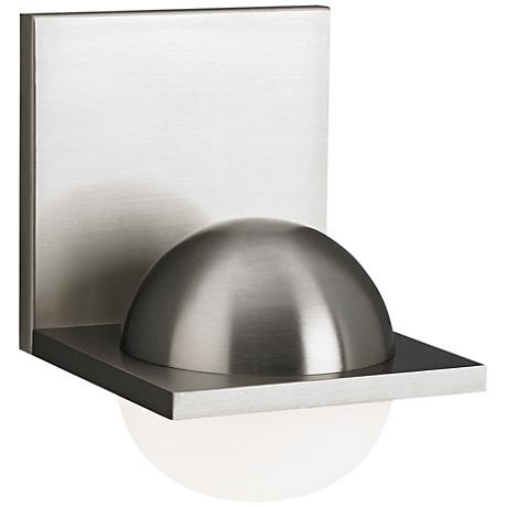 """LBL Sphere 6 3/4"""" High Satin Nickel Frost LED Wall Sconce"""