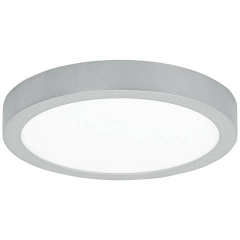 "LBL Tenur Round 11 3/4"" Wide Silver LED Ceiling Light"