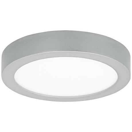 "LBL Tenur Round 9 1/2"" Wide Silver LED Ceiling Light"