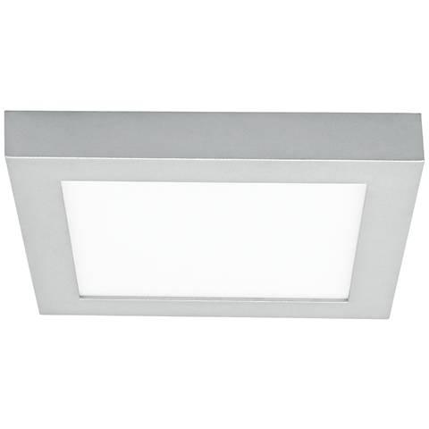 "LBL Tenur Square 11 3/4"" Wide Silver LED Ceiling Light"