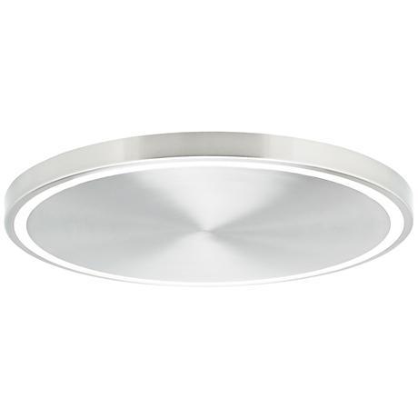 """LBL Crest 20"""" Wide Satin Nickel LED Ceiling Light"""