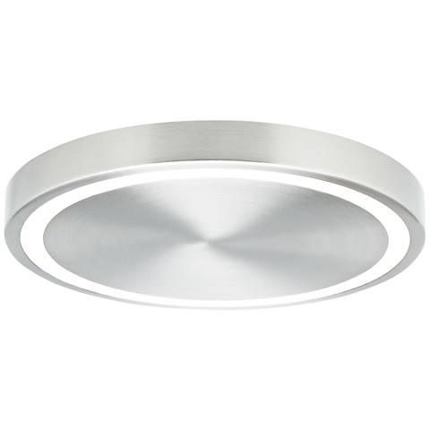 """LBL Crest 12 1/4"""" Wide Satin Nickel LED Ceiling Light"""