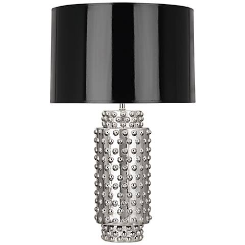 Robert Abbey Dolly Black Shade Polished Nickel Table Lamp