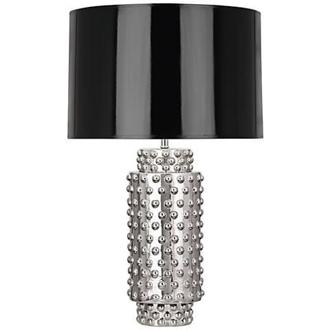 Robert Abbey Dolly Black Shade Polished Nickel Table Lamp