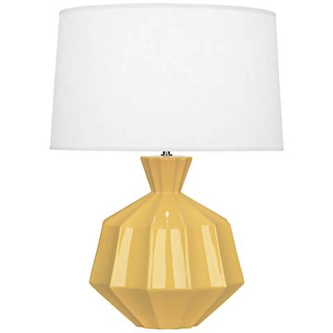 Robert Abbey Orion Sunset Yellow Ceramic Table Lamp