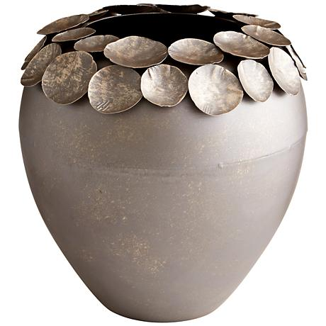 "Cyan Design Electrum Bronze 14 1/2"" High Medium Container"