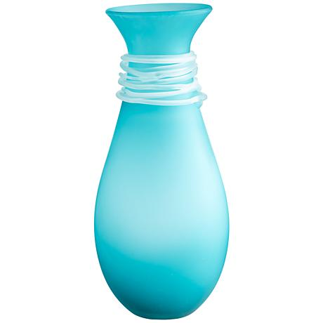 "Cyan Design Alpine Blue 17 1/4"" High Medium Glass Vase"