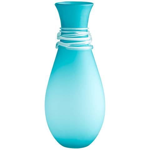 "Cyan Design Alpine Blue 21 3/4"" High Large Glass Vase"
