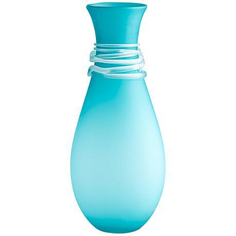 "Cyan Design Alpine Blue 21 3/4"" High Large Glass Vase"