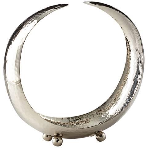 Cyan Design Crescent Nickel Brass Tray