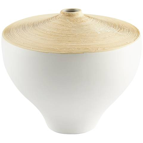 "Cyan Design Inez Matte White 10"" Wide Small Ceramic Vase"
