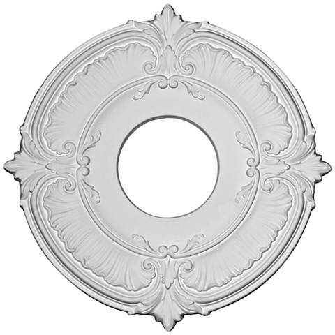 "Attica 12 3/4"" Wide Primed Round Ceiling Medallion"