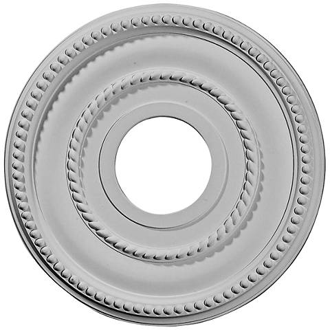 "Valeriano 12 1/4"" Wide Primed Round Ceiling Medallion"