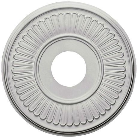 "Berkshire 15 3/4"" Wide Primed Round Ceiling Medallion"