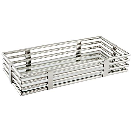 Layers of Meaning Stainless Steel Rectangular Tray