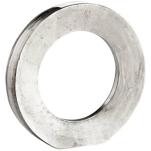 "Cyan Design Rise and Shine Raw Nickel 20 1/4""W Large Vase"