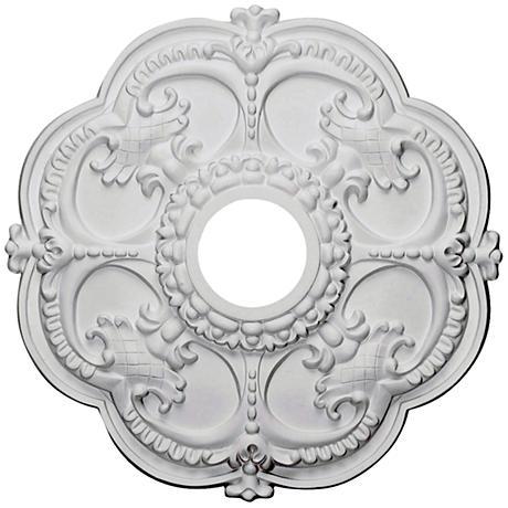 "Rotherham 18"" Wide Primed Round Ceiling Medallion"