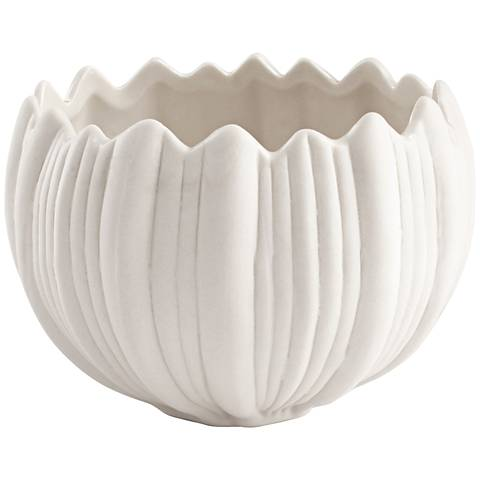 Spirit Flame White Ceramic Large Votive Candle Holder