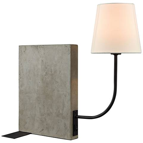 Sector Concrete and Oil Rubbed Bronze Desk Lamp