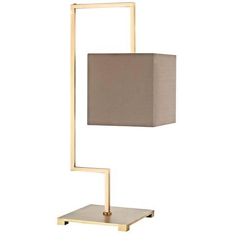 Ergo Antique Brass Metal Table Lamp