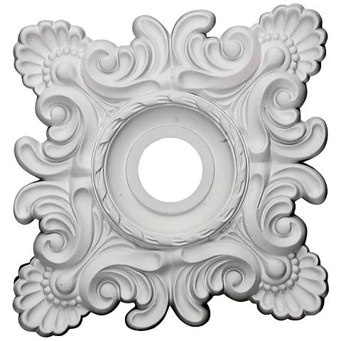 "Crawley 18"" Wide Primed Square Ceiling Medallion"