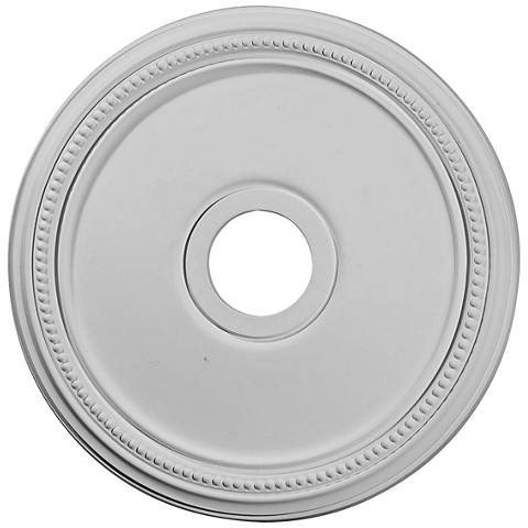 "Diane 18"" Wide Primed Round Ceiling Medallion"