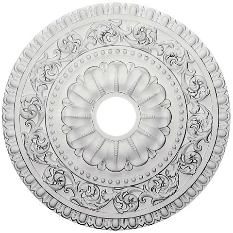 "Vaduz 23 1/2"" Wide Primed Round Ceiling Medallion"