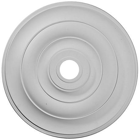 "Jefferson 26 1/2"" Wide Primed Round Ceiling Medallion"