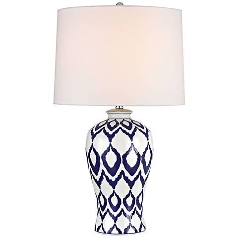 Kew Blue and White Glaze Ceramic Table Lamp