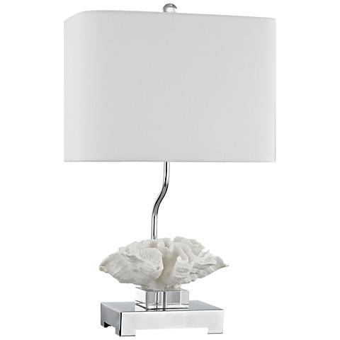 Prince Edward Island White and Polished Nickel Table Lamp