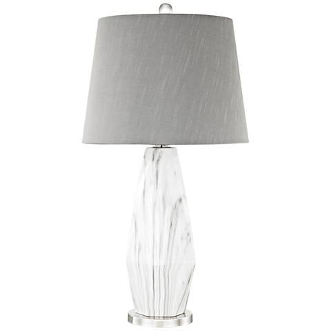 Sochi White Faux Marble Table Lamp