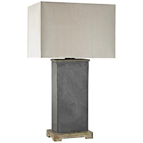 Elliot Bay Gray Slate Outdoor Table Lamp