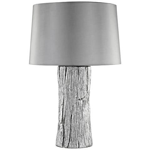 Kanamota Silver Outdoor Table Lamp