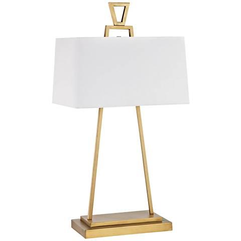 Hellenikon Antique Brass Metal Table Lamp