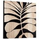 "Cyan Design Del Mar Black 23 3/4"" Square Wood Wall Art"
