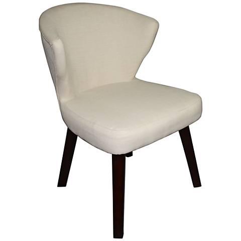 Gilmore Cream Concave Accent Chair