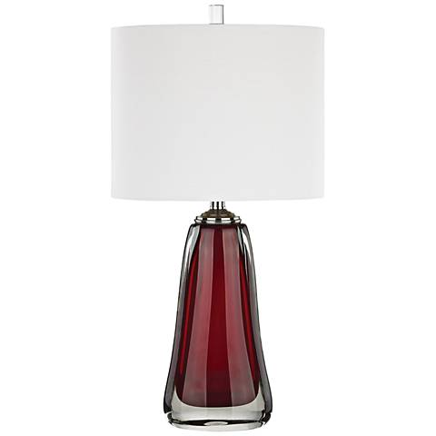 Ms. Scarlet Red Glass Table Lamp