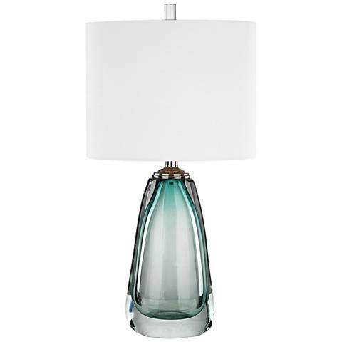 Ms. Aqua Blue Glass Table Lamp