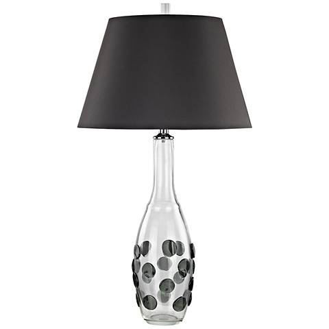 Confiserie Clear and Gray Glass with Gray Shade Table Lamp