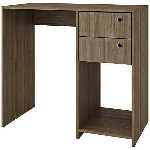 Accentuations Pascara Oak Cubby Work Desk