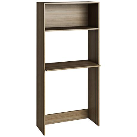 Accentuations Parma Oak Work Desk and Bookcase