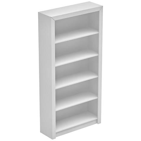 Accentuations Olinda 1.0 White 5-Shelf Bookcase