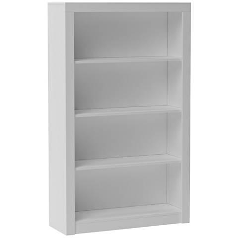 Accentuations Olinda 2.0 White 4-Shelf Bookcase