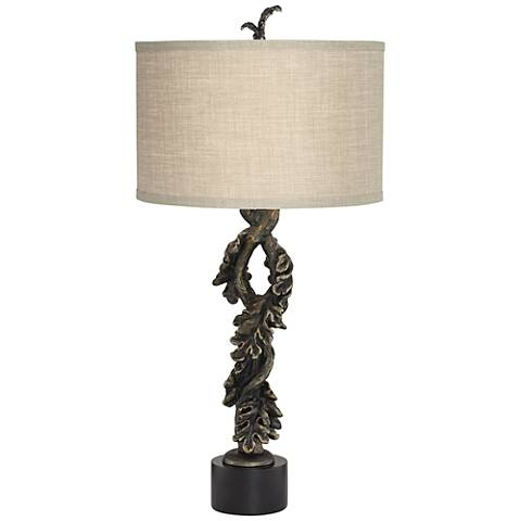 Eden Dark Bronze Leaf Scroll Table Lamp